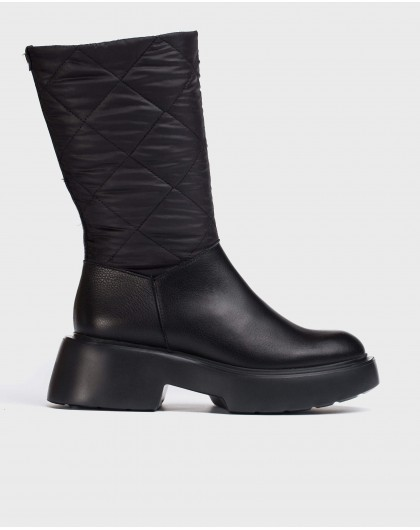 Wonders-Ankle Boots-Black Wet Boot