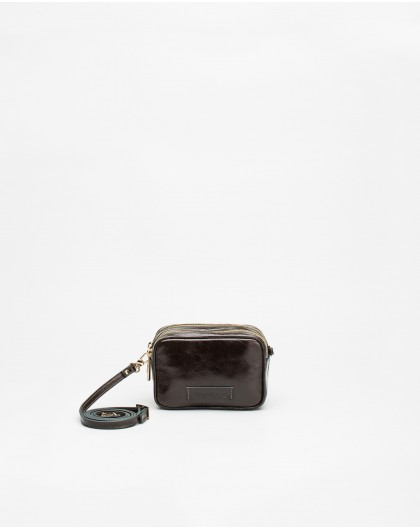 Wonders-Outlet-Crackle effect leather crossbody bag