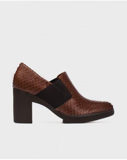 Wonders-Heels-Leather scale shoe