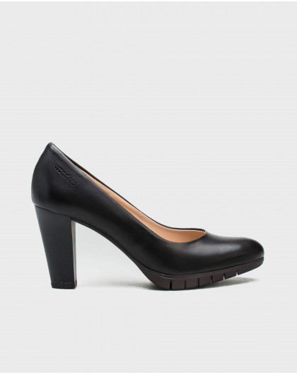 Wonders-Women-High heeled leather court shoe