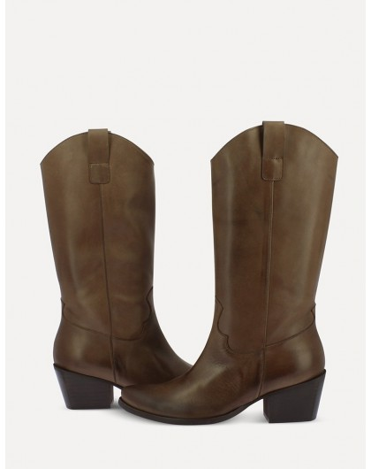 Wonders-Outlet Women-smooth leather Mid/calf ankle boot
