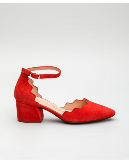 Wonders-Women-Suede leather court shoe