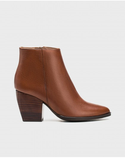 Wonders-Outlet Women-Leather cowboy heeled ankle boot