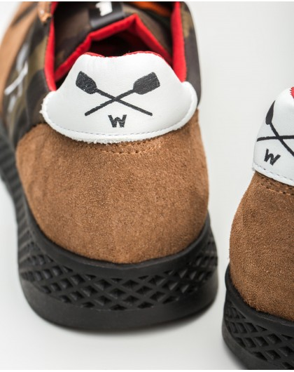 Wonders-Outlet-Suede leather sneakers with shoelace closure
