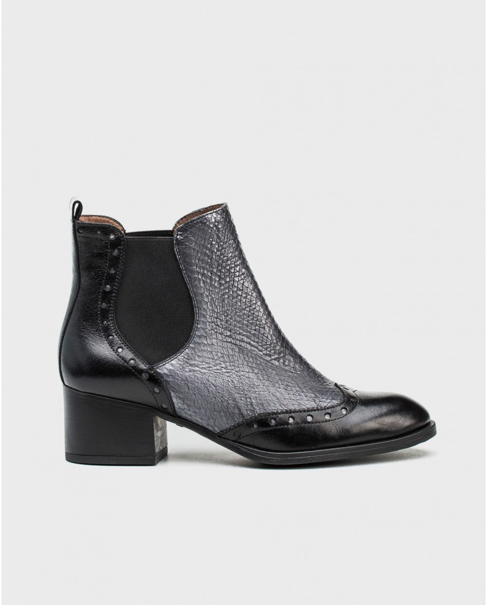 Wonders-Outlet-Oxford ankle boot in snake print