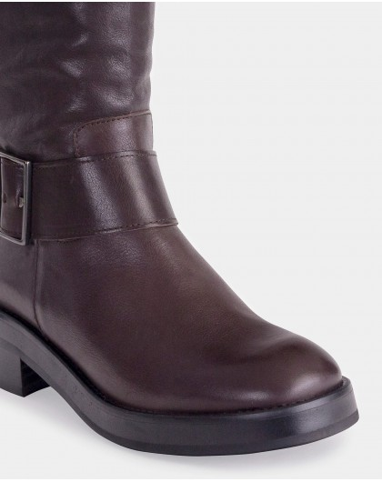 Wonders-Outlet-Ankle boot with wide strap and buckle