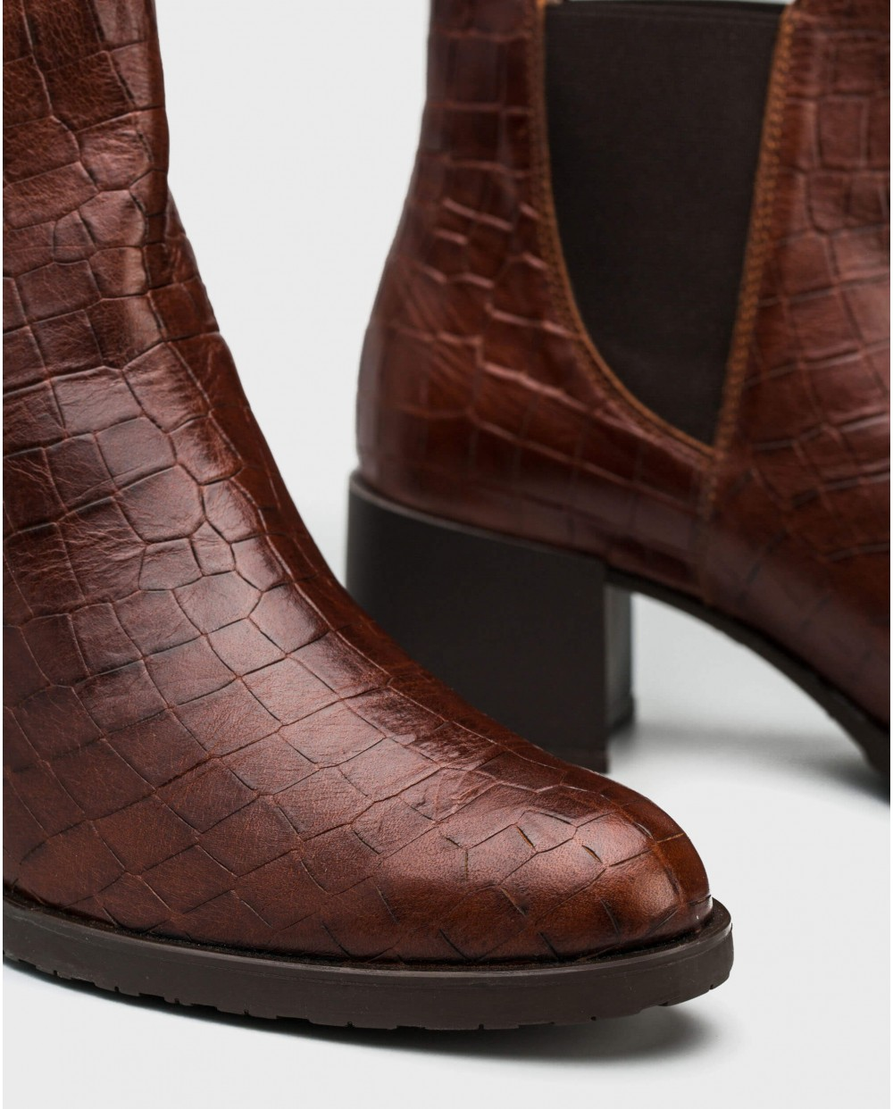 Wonders-Ankle Boots-Mock-croc ankle boot
