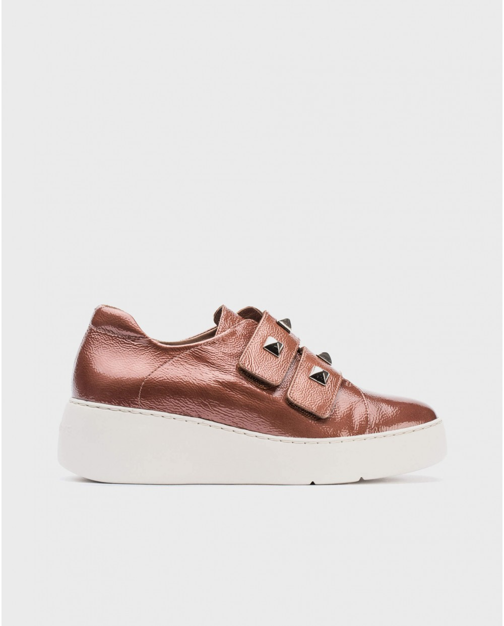 Wonders-Sneakers-Leather sneaker with Velcro straps