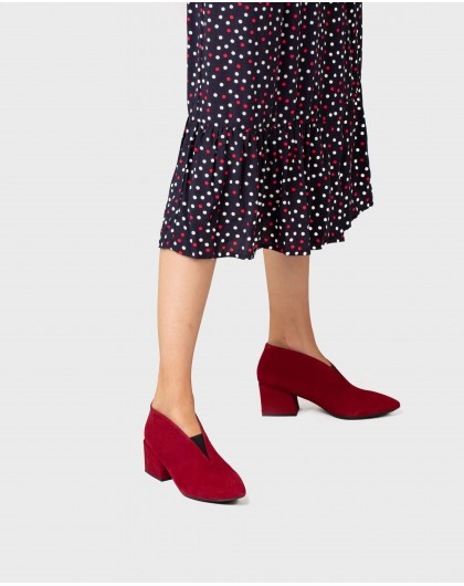 Wonders-Outlet-Suede leather ankle shoe with elastic closure