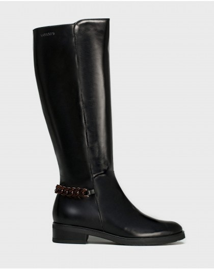Wonders-Boots-Leather boot with chain