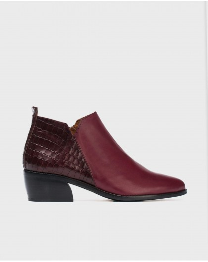 Wonders-Ankle Boots-Mock-croc leather ankle boot