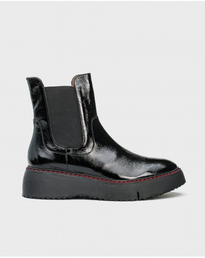 Wonders-Ankle Boots-Patent leather cut out ankle boot