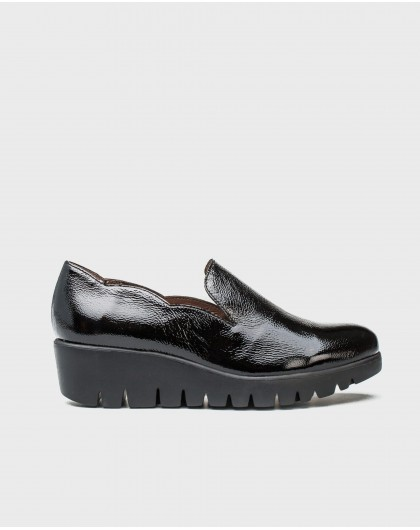 Wonders-Outlet-leather moccasins with wave detail