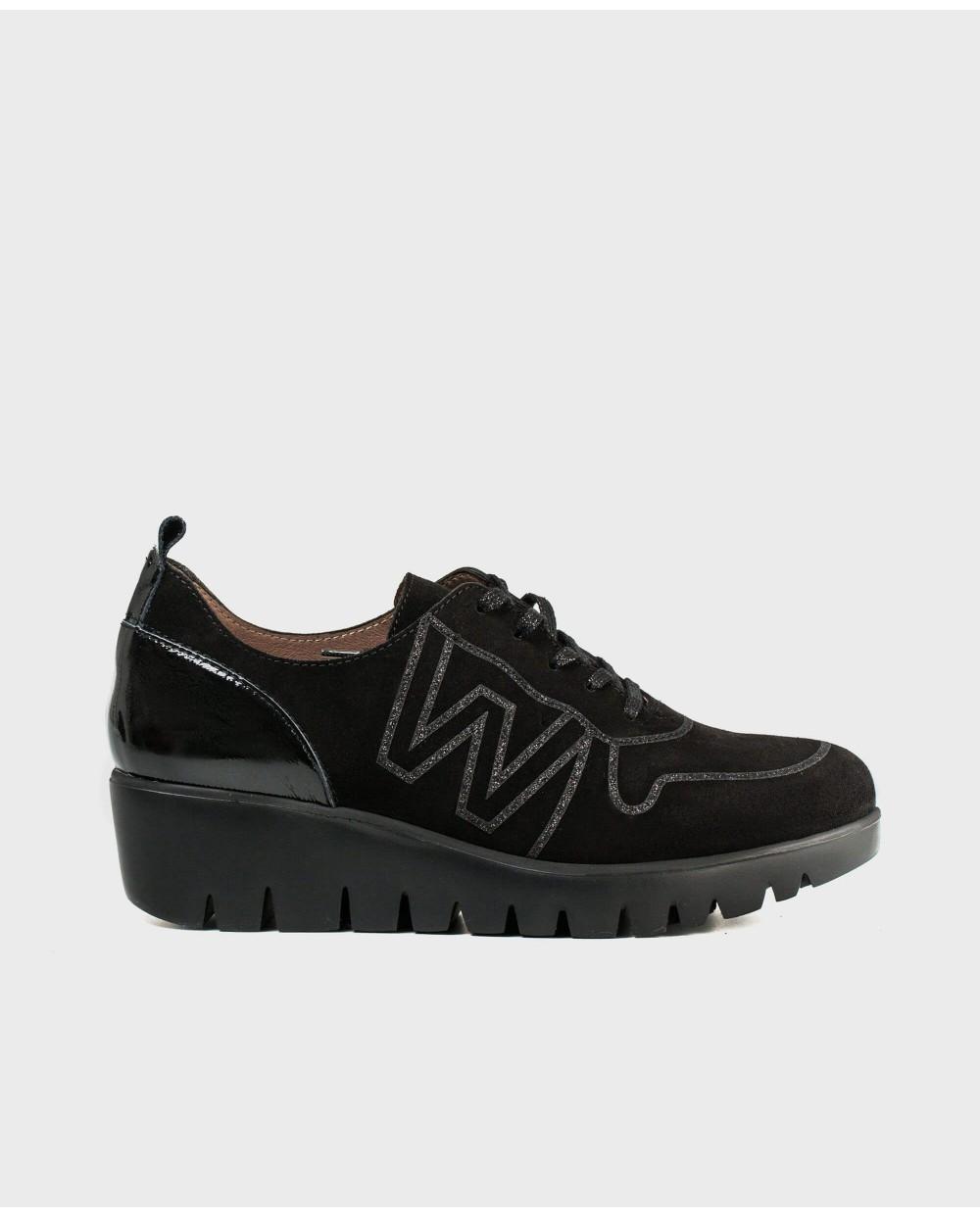 Wonders-Sneakers-Leather platform sneaker
