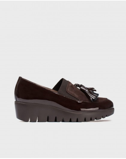 Wonders-Wedges-Moccasin with tassel and elastic