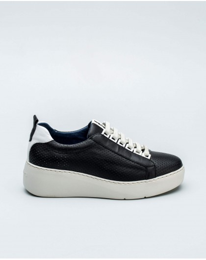 Wonders-Outlet-micro perforated leather sneakers