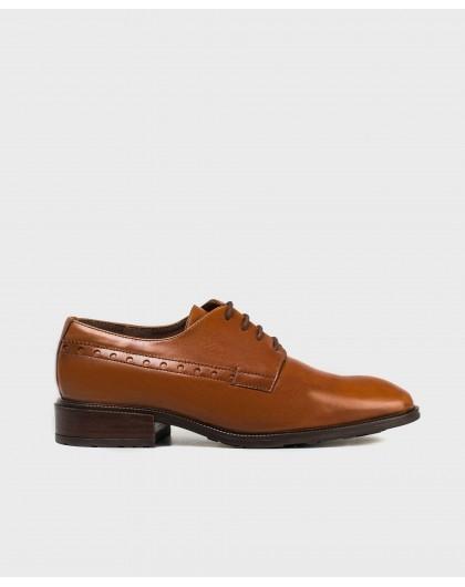 Wonders-Flat Shoes-Brogue detail Blucher