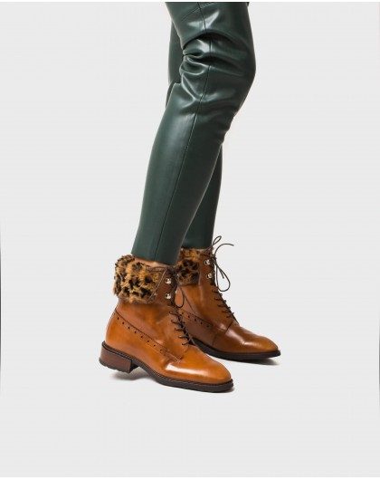 Wonders-Outlet-Leather Oxford style ankle boot