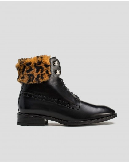 Wonders-Ankle Boots-Leather Oxford style ankle boot