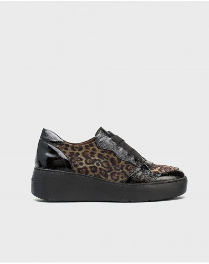 Wonders-Sneakers-Leather animal print sneaker