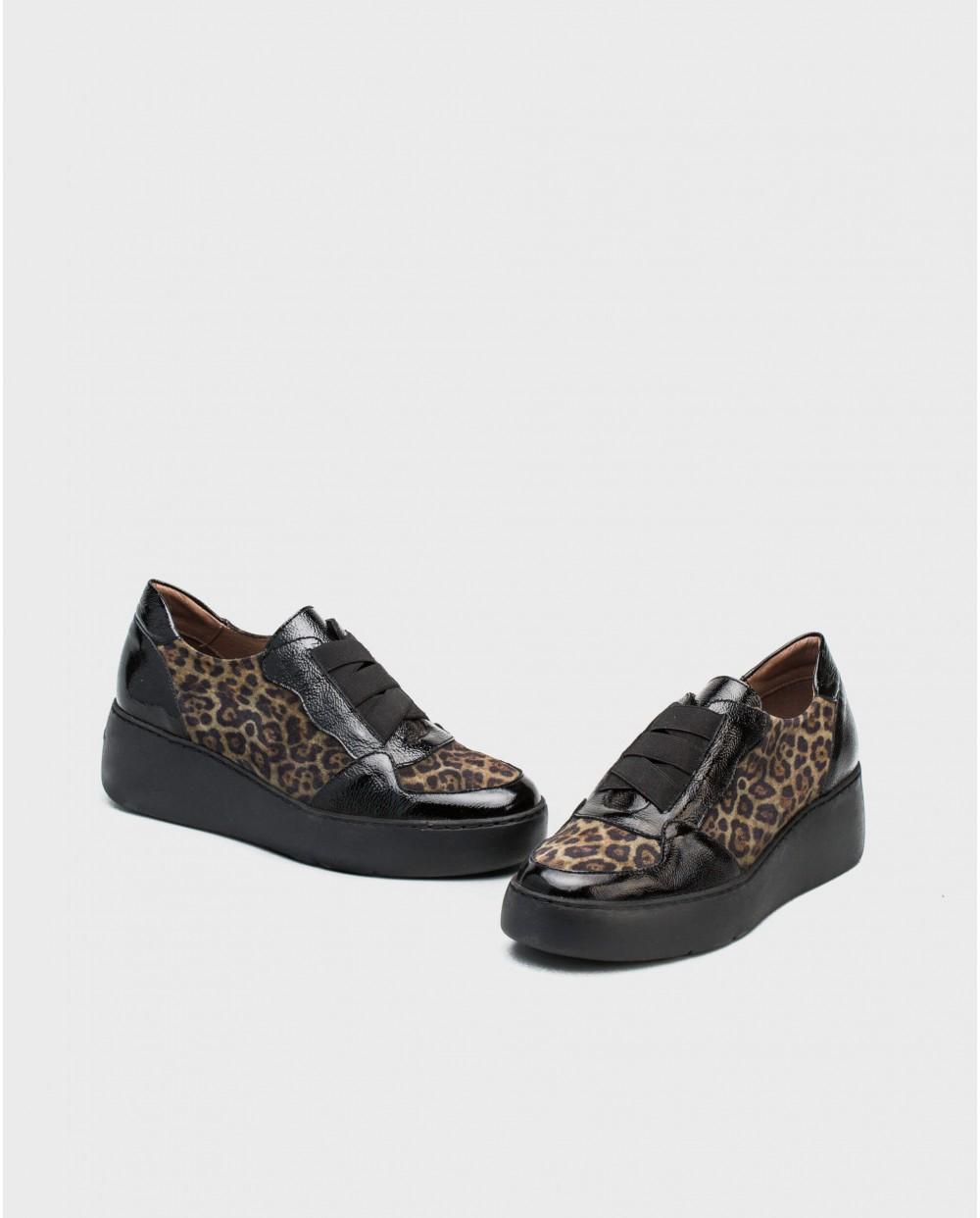 Wonders-Sneakers-Leather animal print sneaker