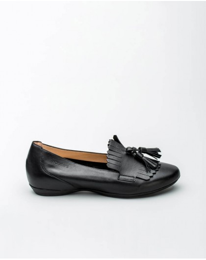 Wonders-Outlet-Leather ballet pump with waves