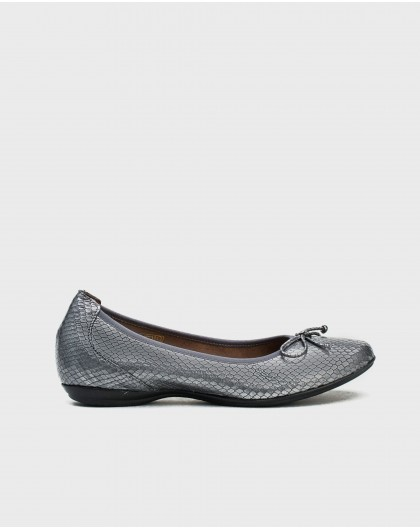 Wonders-Flat Shoes-Snake print ballet pump