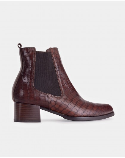 Wonders-Outlet Women-mock/croc leather ankle boot