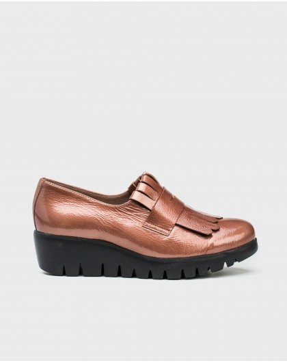 Wonders-Flat Shoes-Patent leather moccasin