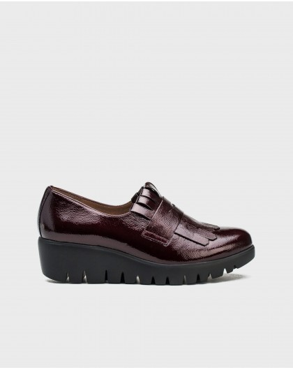 Wonders-Flat Shoes-Loafer Bell red