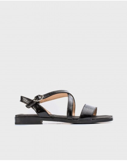 Wonders-Sandals-Patent leather flat sandal