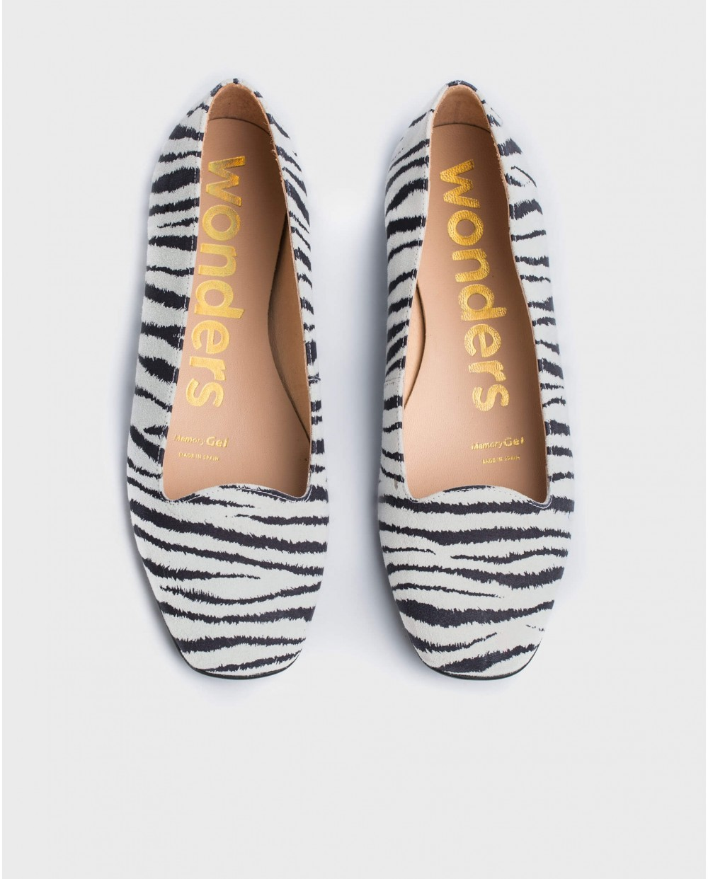 Wonders-Flat Shoes-Zebra print ballet pump