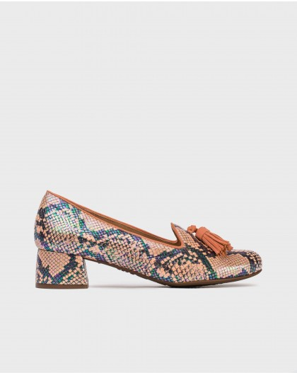 Wonders-Outlet-High heeled ballet pump with tassels