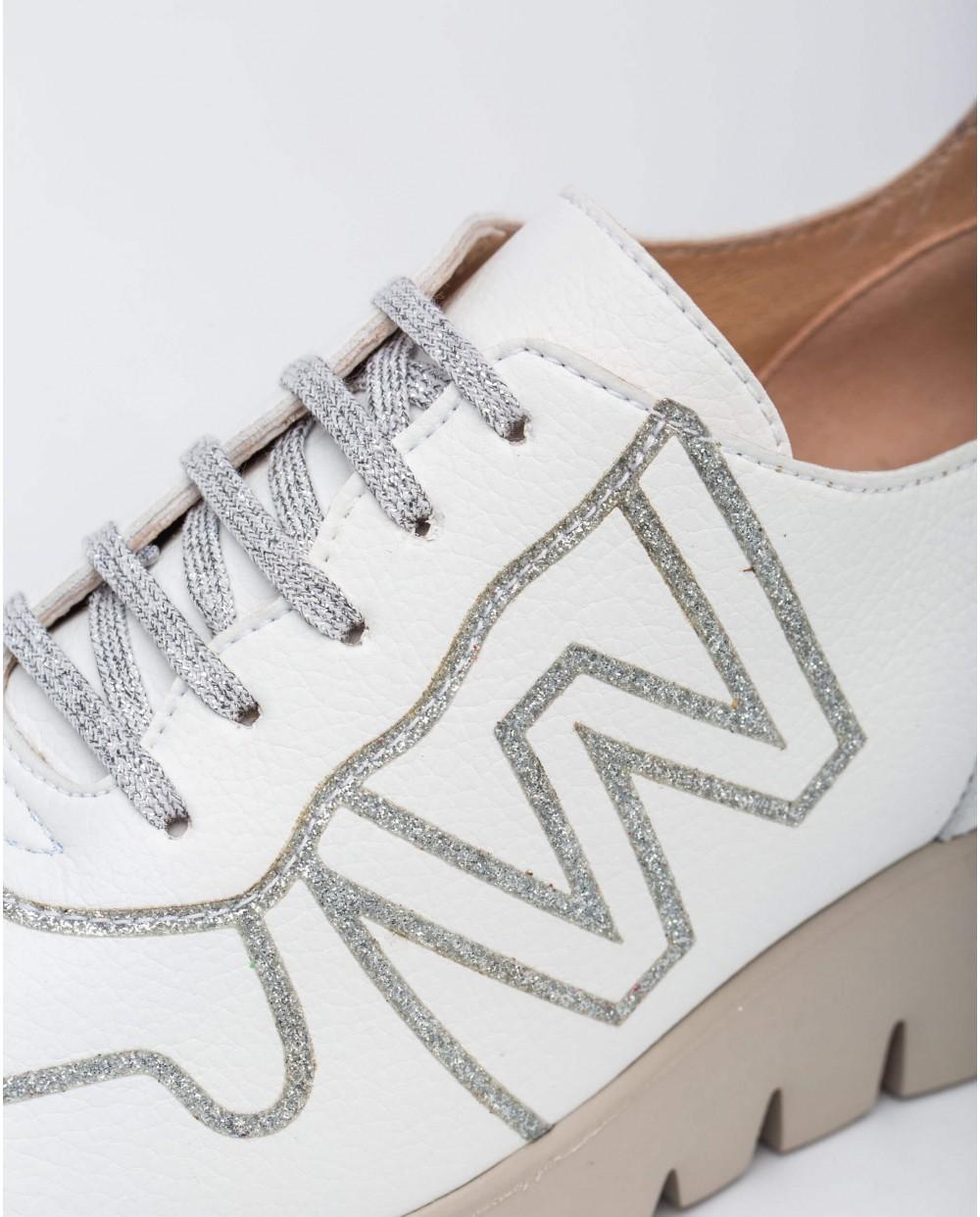 Wonders-Sneakers-Leather sneaker with Logo