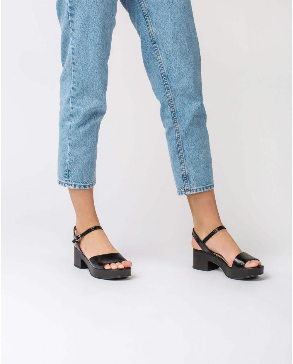 Wonders-Sandals-Leather wedge sandal