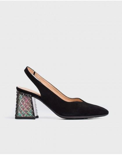 Wonders-New Season-High heeled shoe with jewel detail