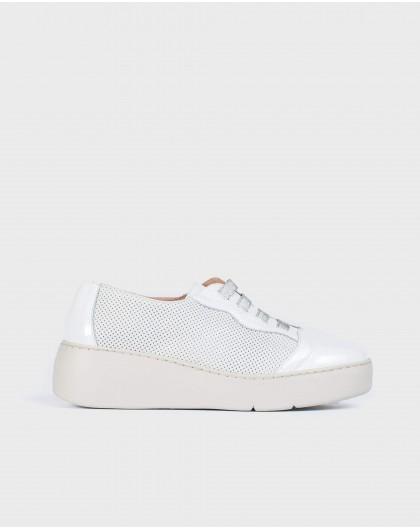 Wonders-Sneakers-Leather micro-perforated sneaker