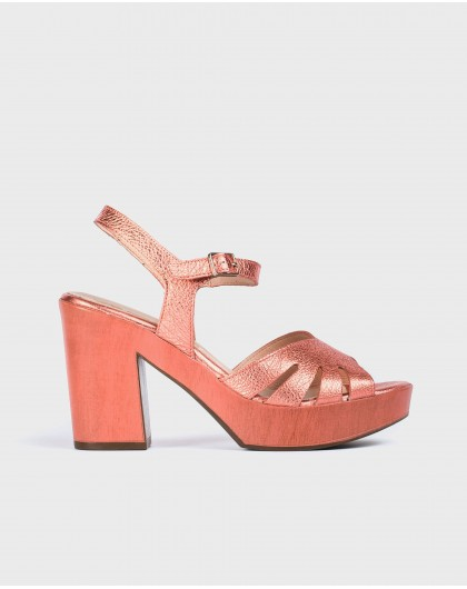 Wonders-New Season-Leather sandal with side cut out detail