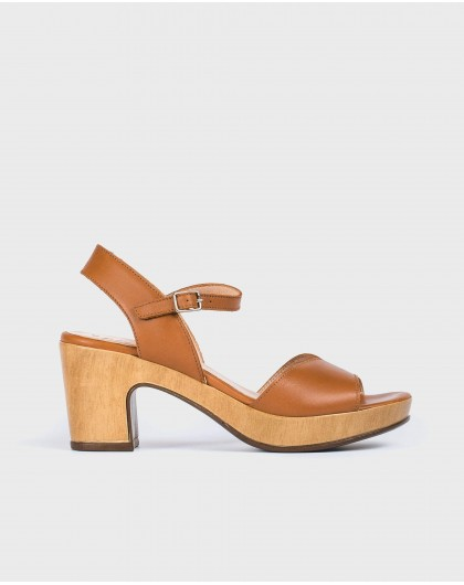 Wonders-Sandals-Platform sandal with irregular strap