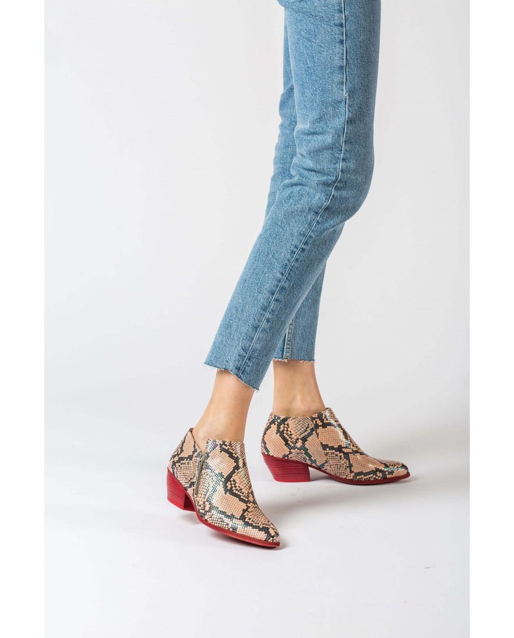 Wonders-Women-Animal print ankle boot