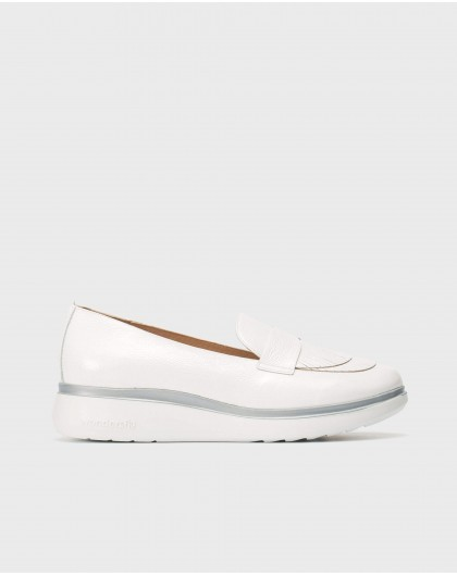 Wonders-New Season-Patent leather moccasins with fringe detail