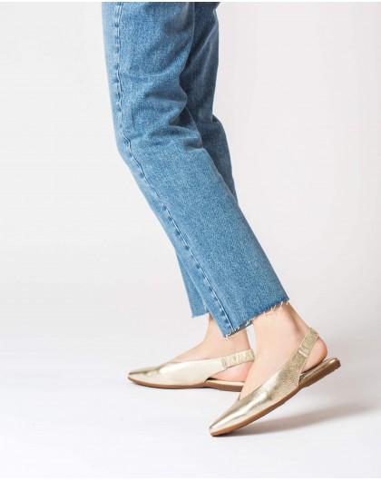 Wonders-Outlet-Metallic leather slingback sandal