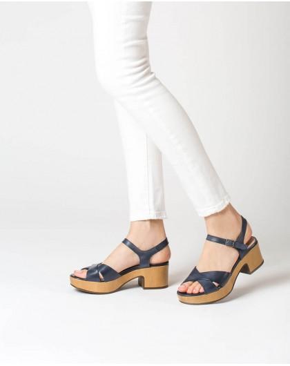 Wonders-Sandals-Leather platform sandal