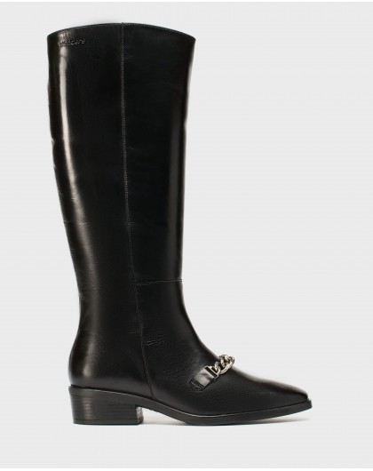 Wonders-Boots-Leather boot with chain detail