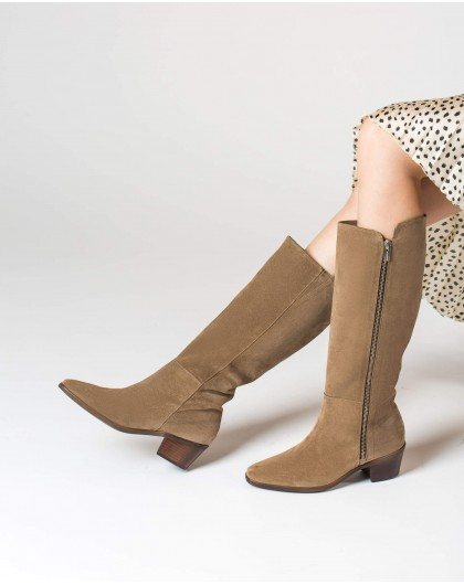 Wonders-Boots-Suede cowboy boot