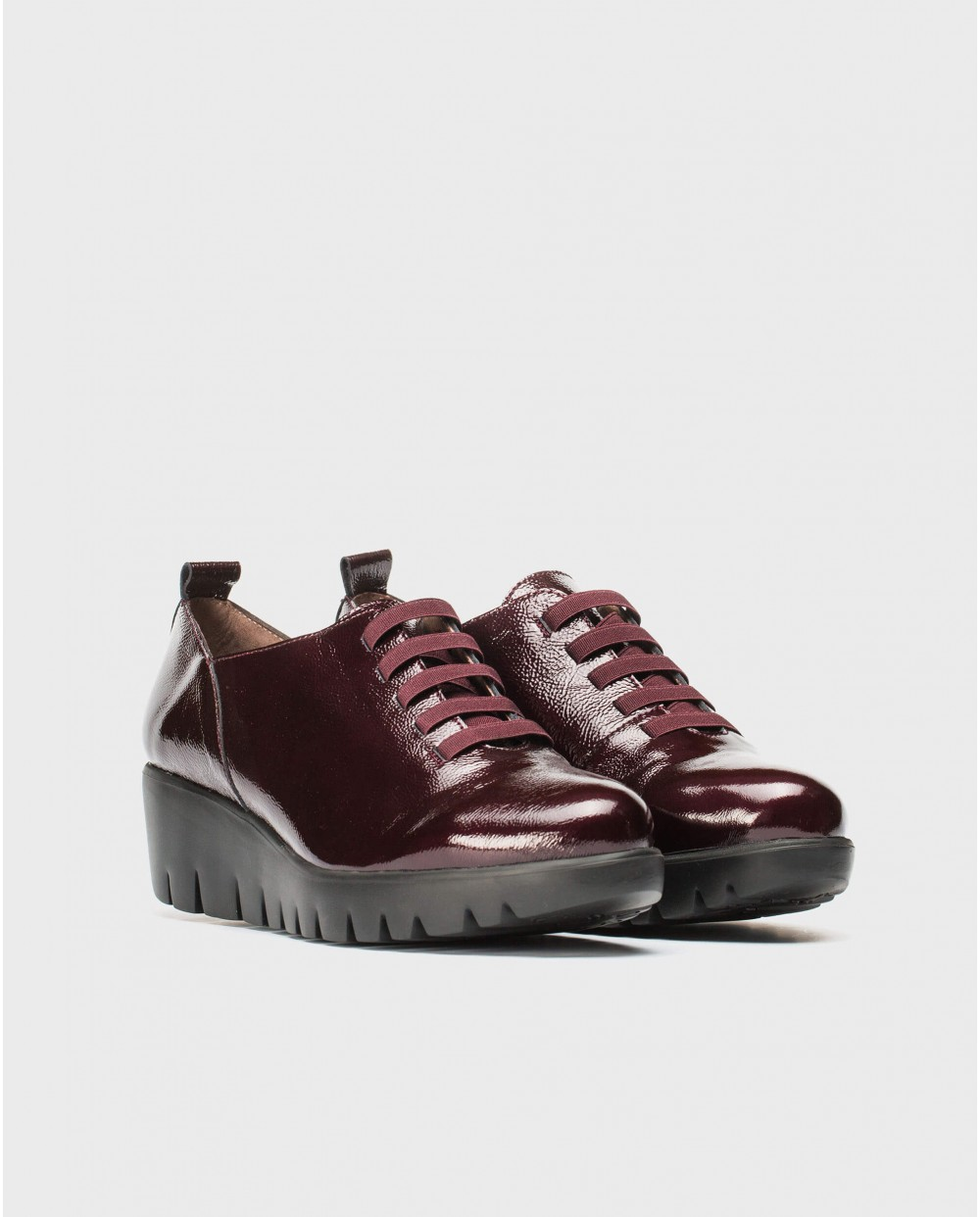 Wonders-Wedges-Patent leather moaccasin elastic