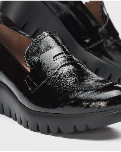 Wonders-Wedges-Wedge shoe with flap