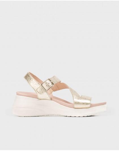 Wonders-Sandals-Patent zig-zag sandal
