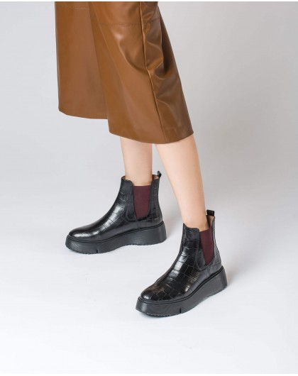 Wonders-Ankle Boots-Ankle boot Abril Black