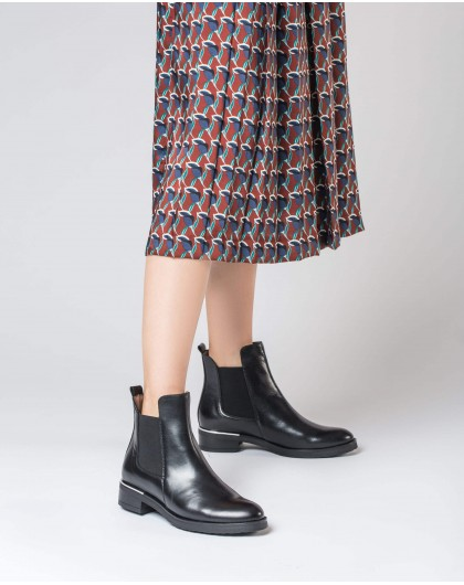 Wonders-Ankle Boots-Flat ankle boot Frida Black